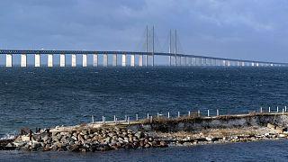Photo d'illustration : Le pont de l'Øresund entre la Suède et le Danemark, le 12 novembre 2015.