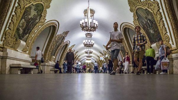 إحدى محطات مترو أنفاق موسكو