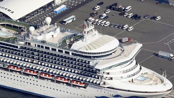 Diamond Princess gemisi 19 Şubat'a kadar Yokohama Limanı'nda karantinada kalacak