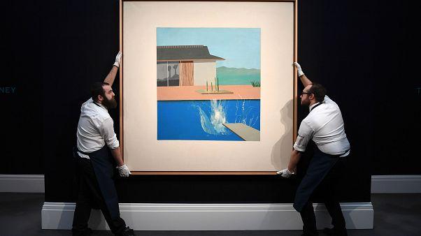 لوحة ذي سبلاش لفنان البوب آرت البريطاني الشهير ديفيد هوكني