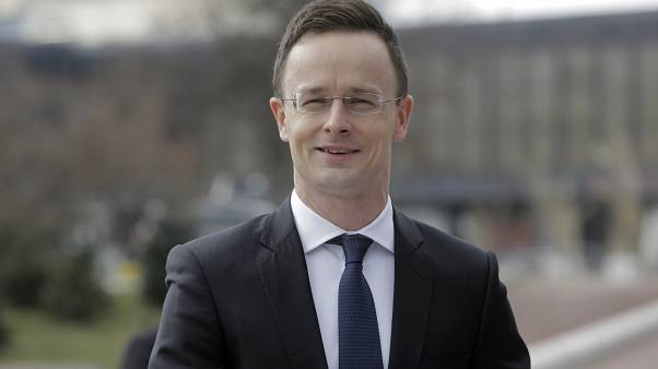 Péter Szijjártó at an informal meeting of EU foreign ministers in Sofia, February 2018.
