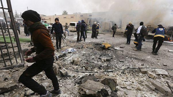 Seis niños entre los doce civiles muertos en bombardeos en Idlib