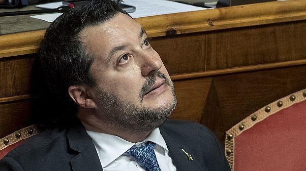 Matteo Salvini, le 12 février 2020, au Sénat à Rome, Italie