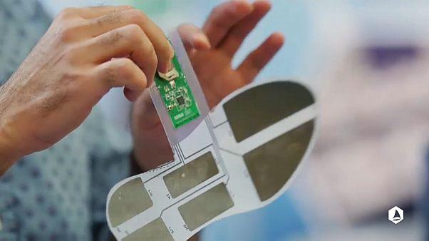 Grafeno aplicado a uma sola de sapato (imagem retirada da peça)
