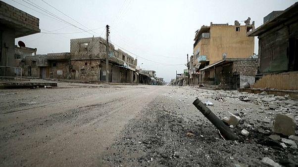 تصاویر پهپادی از ویرانههای دو روستای جنگزده سوریه
