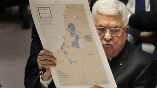 الرئيس الفلسطيني محمود عباس في مجلس الأمن 11 فبراير 2020