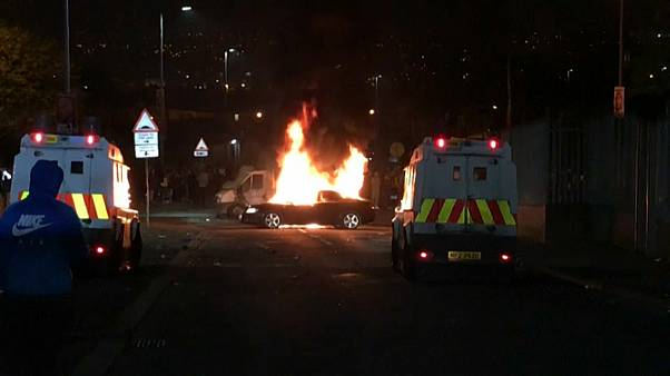 Imagen del enfrentamiento con disidentes del Nuevo Ira en el que murió la periodista Lyra McKee