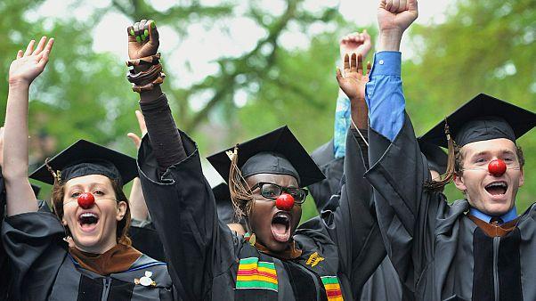 Diplomaosztás után a Yale-en