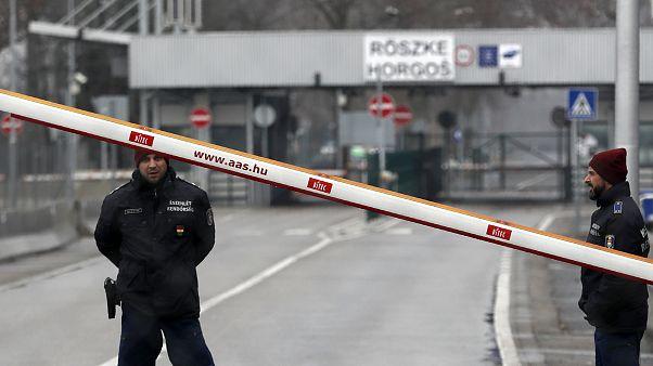Grenze zwischen Serbien und Ungarn.