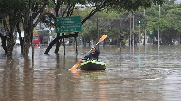 Sao Paulo hit with floods and mudslides after heavy downpours