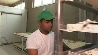 Einer der Mitarbeiter aus Sri Lanka.