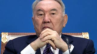 FILE In this file photo taken on Wednesday, May 29, 2019, Former Kazakh President Nursultan Nazarbayev attends the Supreme Eurasian Economic Council meeting in Nur-Sultan