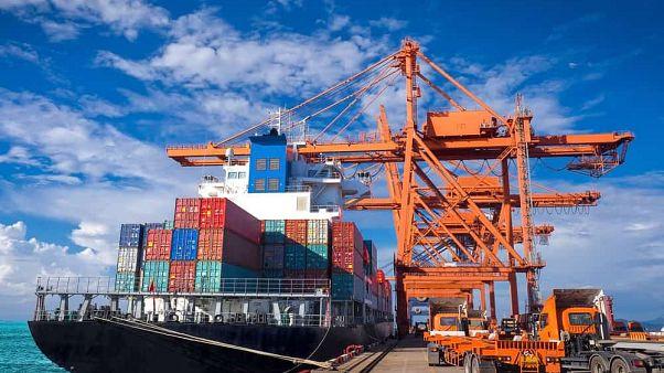 Hollanda'da bir kargo limanı