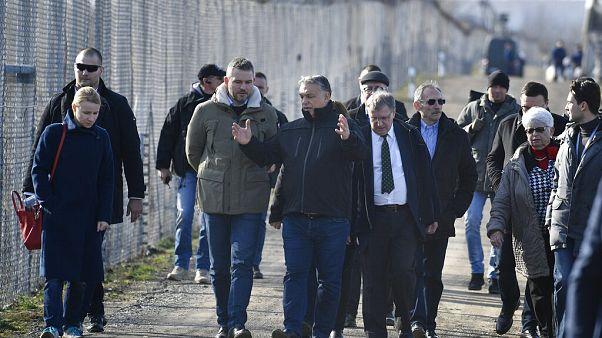 Orbán Viktor a déli határon
