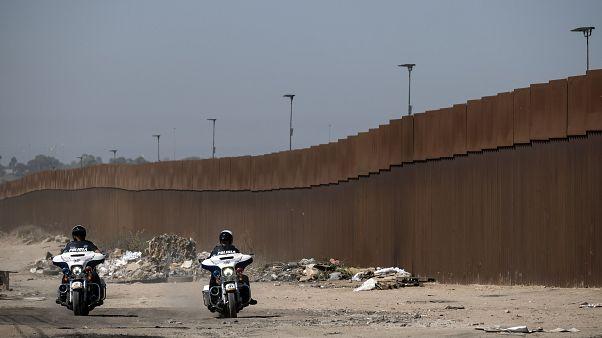 جدار ترامب على الحدود الأمريكية المكسيكية