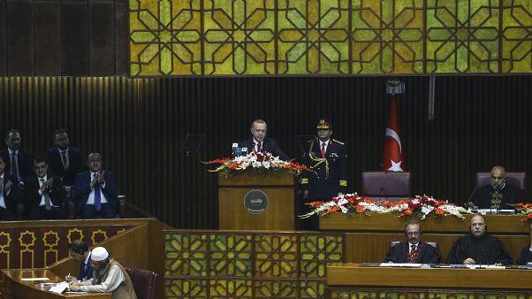 Türkiye Cumhurbaşkanı Recep Tayyip Erdoğan, Ulusal Meclis ve Senato ortak oturumuna katılarak konuşma yaptı