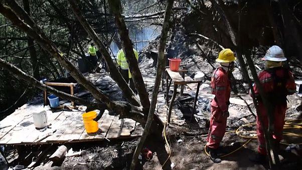 El laboratorio de cocaína calcinado tras el incendio provocado por la Policía