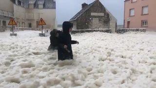Tempestades marcam as imagens da semana na Europa