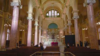 Die Synagoge von innen.