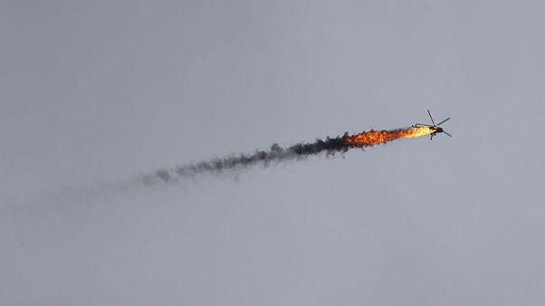 سقوط یک بالگرد دیگر ارتش سوریه در غرب حلب؛ دو خلبان کشته شدند