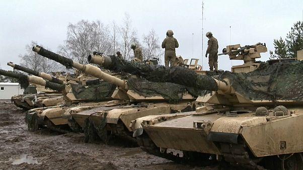 Американские танки не боятся литовской грязи