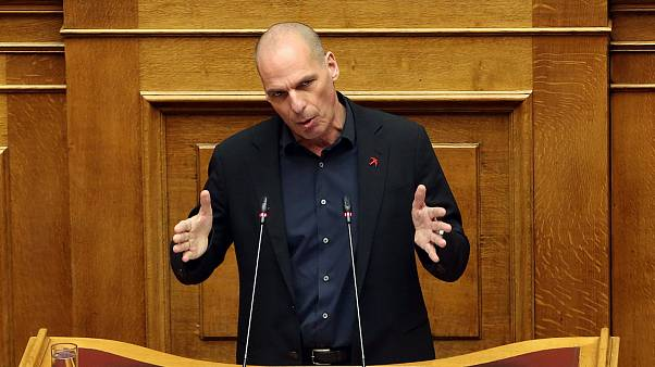 Ο γραμματέας του ΜέΡΑ25 Γιάνης Βαρουφάκης μιλά στη Βουλή