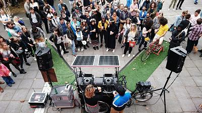 Solar Sound System playing in Paris