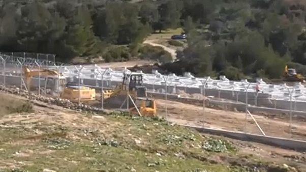 Protestos contra novos campos de refugiados em Lesbos