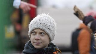 شاهد: غريتا تونبرغ في مظاهرة بيئية بستوكهولم
