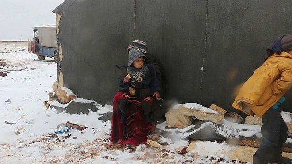 Halálra fagynak az Idlíbből elmenekült szírek