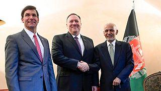 دیدار پمپئو و اسپر با اشرف غنی در مونیخ؛ «توافق با طالبان مشروط است»