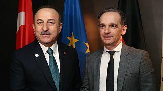 Türkiye Dışişleri Bakanı Mevlüt Çavuşoğlu ve Almanya Dışişleri Bakanı Heiko Maas