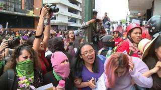 Women in Mexico protest against the grisly murder of Ingrid Escamilla