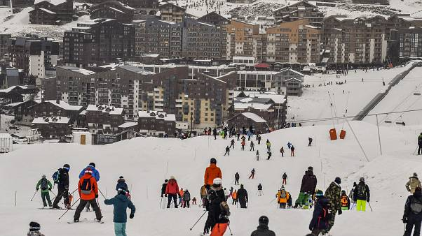 Ski resort workers protest over unemployment reforms as France's busy winter season gets underway