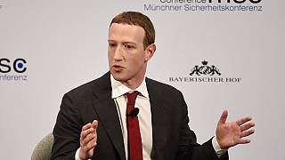 Facebook CEO Mark Zuckerberg at the Munich Security Conference on Saturday