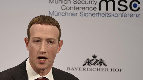 Mark Zuckerberg de Facebook interview lors d'une conférence sur la sécurité à Munich, en Allemagne
