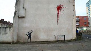 Mais um Banksy vandalizado