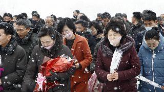 День рождения Ким Чен Ира в масках