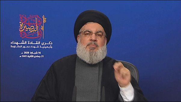"""نصر الله يدعو إلى منح الحكومة الجديدة """"فرصة معقولة"""" للعمل على منع انهيار اقتصاد لبنان"""