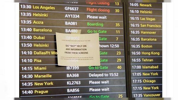 Caos en el aeropuerto de Heathrow en Londres por un fallo en el sistema informático