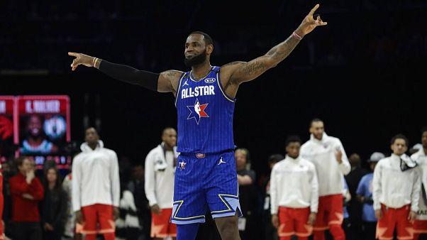 El equipo LeBron gana un All Stars dedicado a Kobe Bryant
