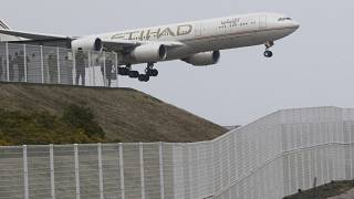 AIRPORT SECURITY; People enjoy viewing of Airplanes at the park of Narita Airport, in Narita, Saturday, March 14, 2015. (AP Photo/Koji Sasahara)