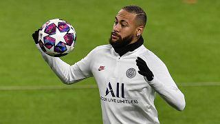 Neymar à l'entraînement avant la confrontation face au Borussia Dortmund