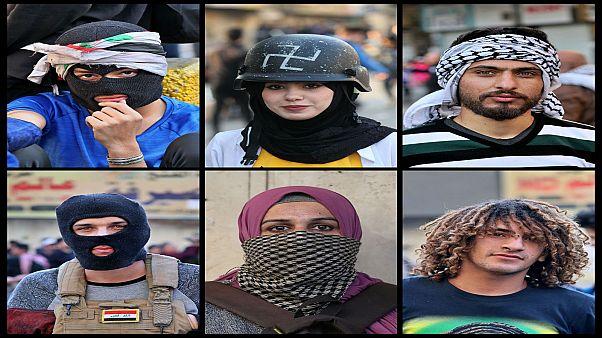 متظاهرون شاركوا الإثنين في احتجاجات الشارع العراقي ضد الطائفية وفساد الحكومة. بغداد 17/02/2020