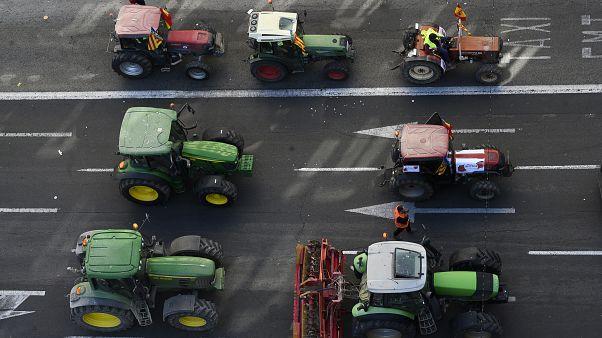 Agricoltori spagnoli contro la grande distribuzione
