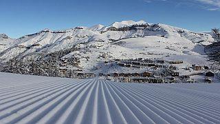 Les pistes de ski de Valberg, Guillaumes, France