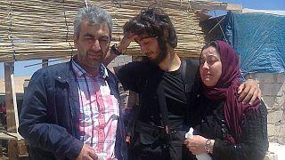 Osman y Gülay T. con su hijo Burak.