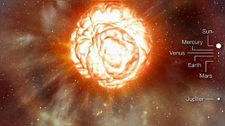 احتمال انفجار یک ستارۀ در حال مرگ که هزار بار بزرگتر از خورشید است