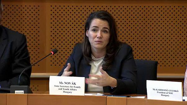 Novák Katalin Brüsszelben