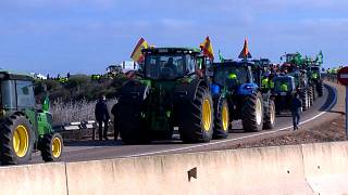 Thousands of farmers in western Spain cultivate protest over prices